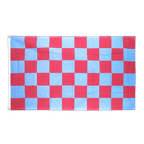 Drapeau à Damier Rouge-Bleu - 90 x 150 cm