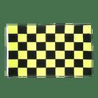 Checkered Black-Yellow - 3x5 ft Flag