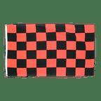 Drapeau à Damier Noir-Rouge - 90 x 150 cm