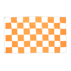 Checkered White-Orange - 3x5 ft Flag