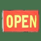 Drapeau Open Rouge-Jaune - 90 x 150 cm