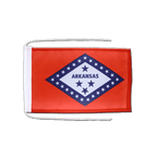 Arkansas - Flag with ropes 8x12""