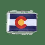 Drapeau avec cordelettes USA US Colorado - 20 x 30 cm