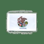 Drapeau avec cordelettes USA US Illinois - 20 x 30 cm