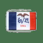 Drapeau avec cordelettes USA US Iowa - 20 x 30 cm