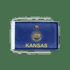 Drapeau avec cordelettes USA US Kansas - 20 x 30 cm