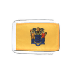 Drapeau avec cordelettes USA US New Jersey - 20 x 30 cm
