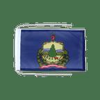 Drapeau avec cordelettes USA US Vermont - 20 x 30 cm