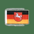 Drapeau avec cordelettes Allemagne Basse-Saxe 20 x 30 cm