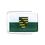 Saxony - Flag with ropes 8x12""