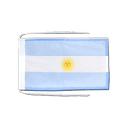 Argentina - Flag with ropes 8x12""