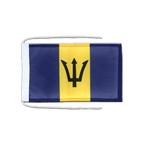 Barbados - Flag with ropes 8x12""