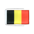 Belgium - Flag with ropes 8x12""