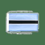 Drapeau avec cordelettes Botswana - 20 x 30 cm