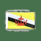 Drapeau avec cordelettes Brunei - 20 x 30 cm