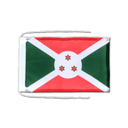 Drapeau avec cordelettes Burundi - 20 x 30 cm