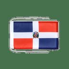 Drapeau avec cordelettes République dominicaine - 20 x 30 cm