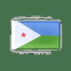 Drapeau avec cordelettes Djibouti - 20 x 30 cm