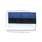 Drapeau avec cordelettes Estonie - 20 x 30 cm
