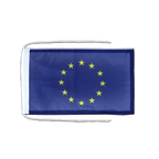 European Union EU - Flag with ropes 8x12""