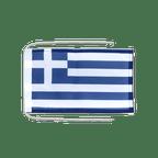 Drapeau avec cordelettes Grèce - 20 x 30 cm