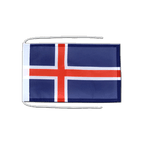 Iceland - Flag with ropes 8x12""