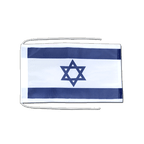 Israel - Flag with ropes 8x12""