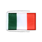 Drapeau avec cordelettes Italie - 20 x 30 cm