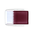 Qatar - Flag with ropes 8x12""