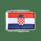 Drapeau avec cordelettes Croatie - 20 x 30 cm