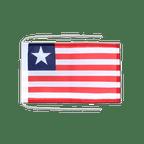 Drapeau avec cordelettes Libéria - 20 x 30 cm
