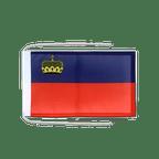 Drapeau avec cordelettes Liechtenstein - 20 x 30 cm