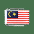 Drapeau avec cordelettes Malaisie - 20 x 30 cm