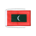 Drapeau avec cordelettes Maldives - 20 x 30 cm