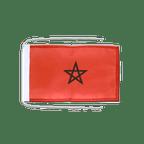 Drapeau avec cordelettes Maroc - 20 x 30 cm