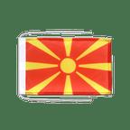 Drapeau avec cordelettes Macédoine - 20 x 30 cm