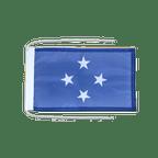 Drapeau avec cordelettes Micronésie - 20 x 30 cm