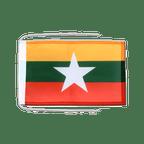 Drapeau avec cordelettes Myanmar nouveau - 20 x 30 cm