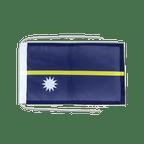 Drapeau avec cordelettes Nauru - 20 x 30 cm