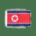 Drapeau avec cordelettes Corée du Nord - 20 x 30 cm