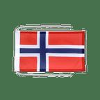 Drapeau avec cordelettes Norvège - 20 x 30 cm
