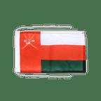 Drapeau avec cordelettes Oman - 20 x 30 cm
