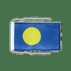 Drapeau avec cordelettes République des Palaos - 20 x 30 cm
