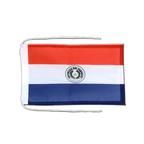 Paraguay - Flag with ropes 8x12""