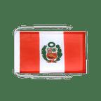 Drapeau avec cordelettes Pérou - 20 x 30 cm