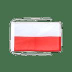 Drapeau avec cordelettes Pologne - 20 x 30 cm