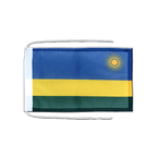 Drapeau avec cordelettes Rwanda - 20 x 30 cm