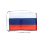 Russia - Flag with ropes 8x12""