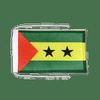 Drapeau avec cordelettes Sao Tomé e Principé - 20 x 30 cm