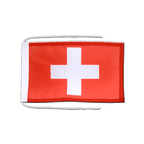 Switzerland - Flag with ropes 8x12""